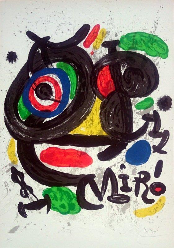 Joan Miró, lithograph, 1970