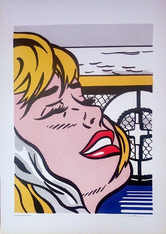 """ROY LICHTENSTEIN POSTER - """"SHIPBOARD GIRL"""" - 2"""
