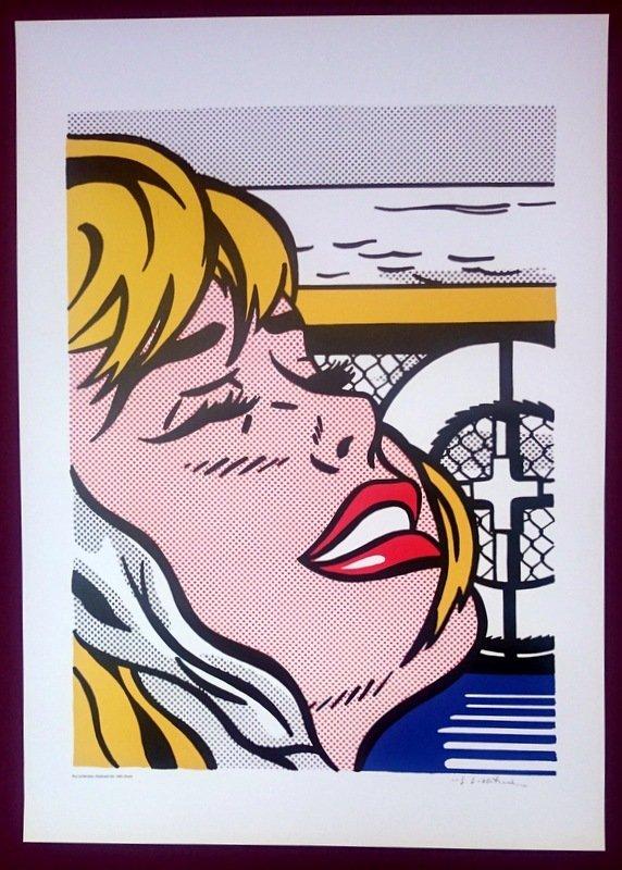 """ROY LICHTENSTEIN POSTER - """"SHIPBOARD GIRL"""" - 3"""