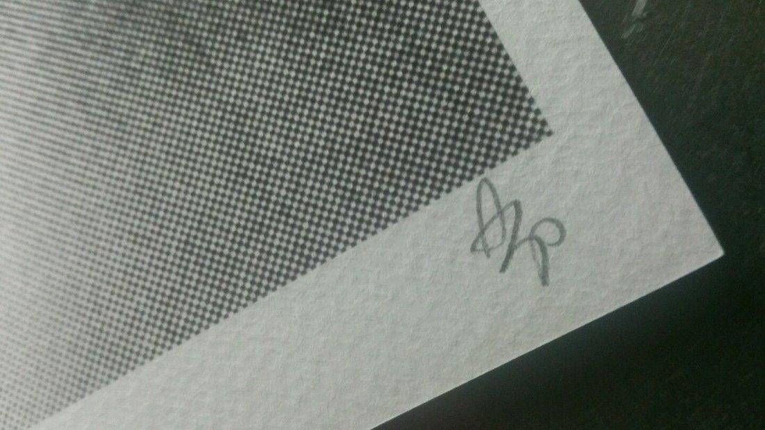 Death NYC  print COA embossed Artist proof Signed - 3