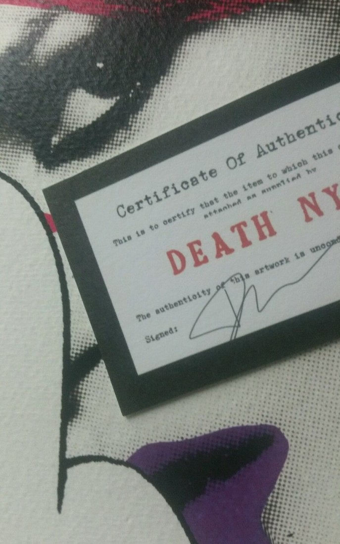 Death NYC  print COA embossed Artist proof Signed - 4