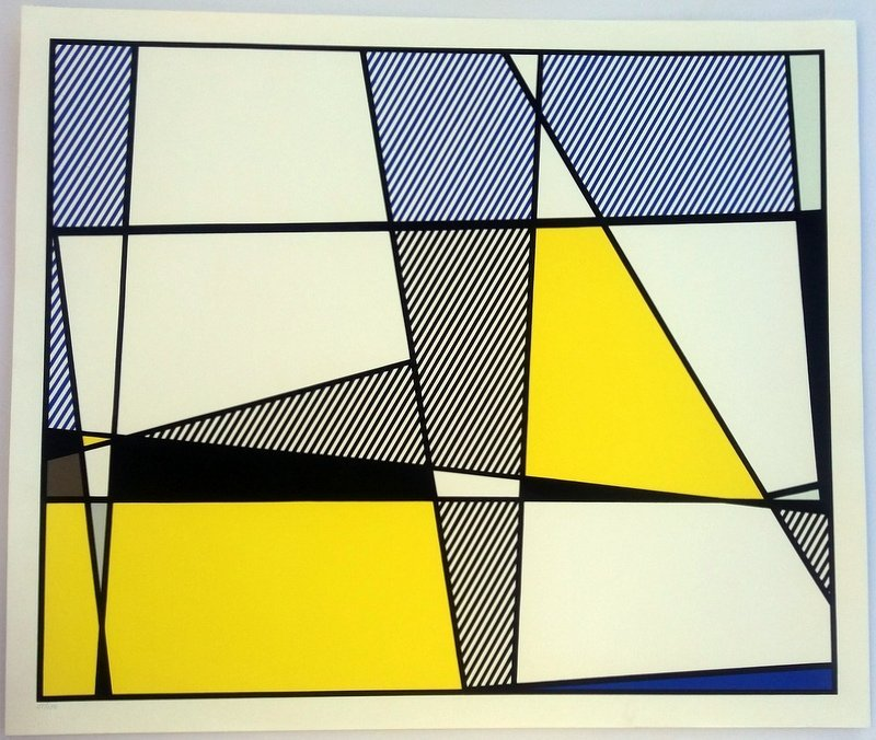 Roy Lichtenstein.Cow Triptych: Cow Going Abstract - 3