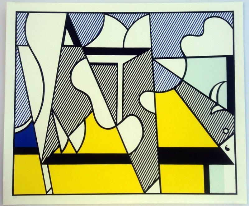Roy Lichtenstein.Cow Triptych: Cow Going Abstract - 5