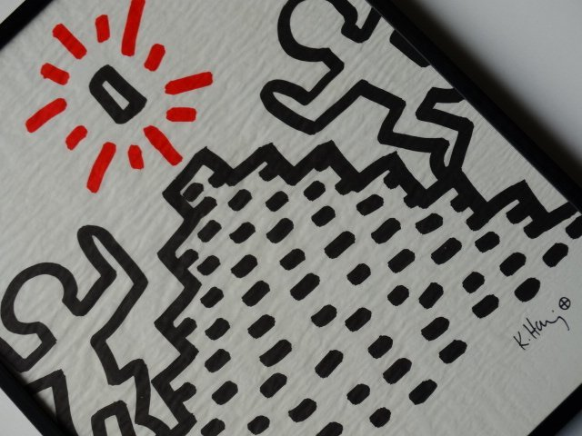 Keith Haring, japan paper, 1982