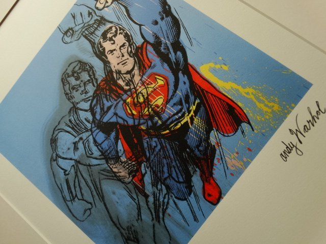 ANDY WARHOL, SUPERMANPLATE SIGNED AND HAND NUMBERED