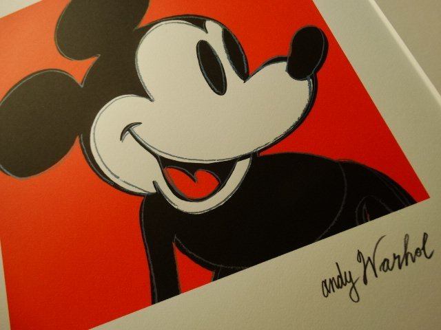 ANDY WARHOL, MICKEY MOUSE PLATE SIGNED  HAND NUMBERED
