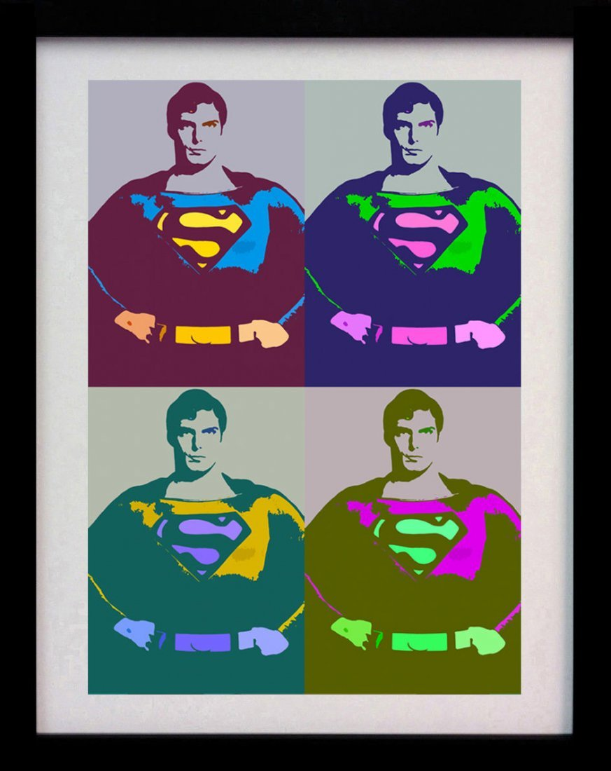 SUPERMAN POP ART DECO A3 ANDY WARHOL STYLE POSTER PRINT