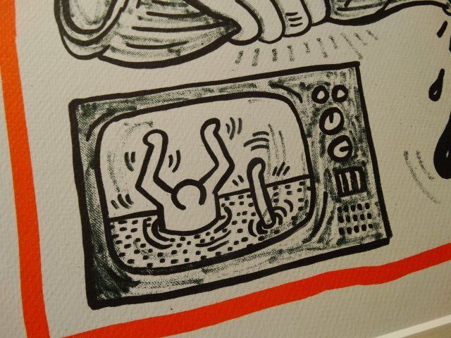 KEITH HARING LITHOGRAPH, 1990