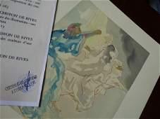 Salvador Dali gravure 1963 justification
