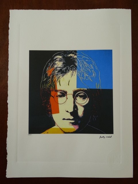 ANDY WARHOL PLATE SIGNED AND HAND NUMBERED