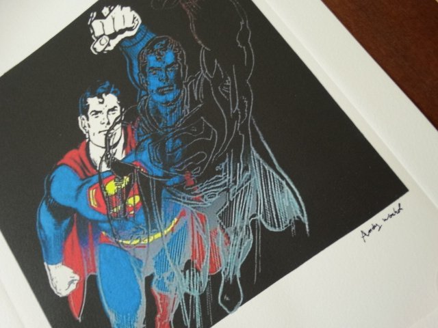 ANDY WARHOL , SUPERMAN PLATE SIGNED AND HAND NUMBERED