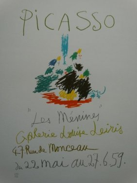PABLO PICASSO,LITHOGRAPH WATERMARK