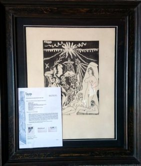 Pablo Picasso, 1968, Hand Signed Etching
