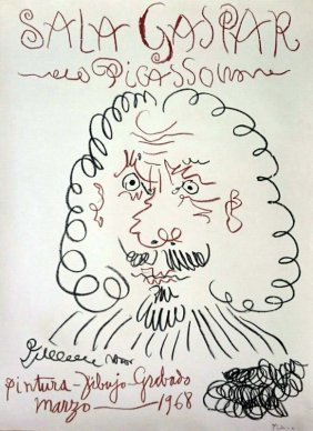 Pablo Picasso , Lithograph, Hand Signed, Certified