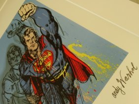 Andy Warhol, Superman, Plate Signed And Hand Numbered