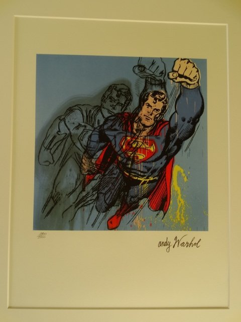 ANDY WARHOL, SUPERMAN, PLATE SIGNED AND HAND NUMBERED - 2