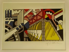 Roy Lichtenstein, Lithograph, Plate Signed