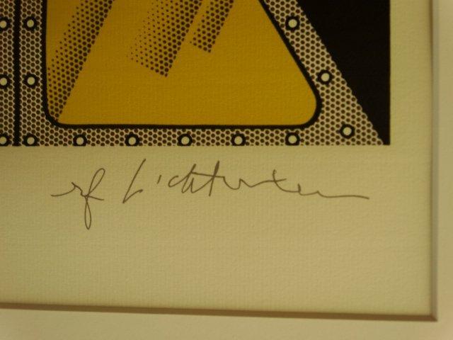 ROY LICHTENSTEIN, LITHOGRAPH, PLATE SIGNED - 2