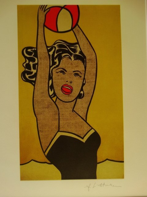 ROY LICHTENSTEIN, LITHOGRAPH, PLATE SIGNED