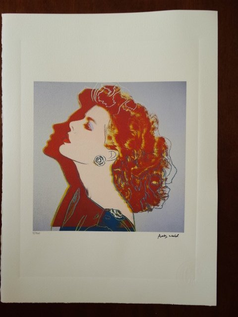 ANDY WARHOL PLATE SIGNED AND HAND NUMBERED - 2