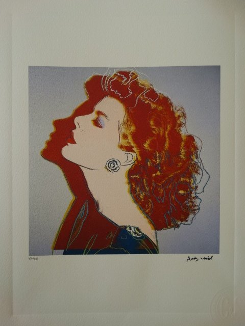 ANDY WARHOL PLATE SIGNED AND HAND NUMBERED - 3