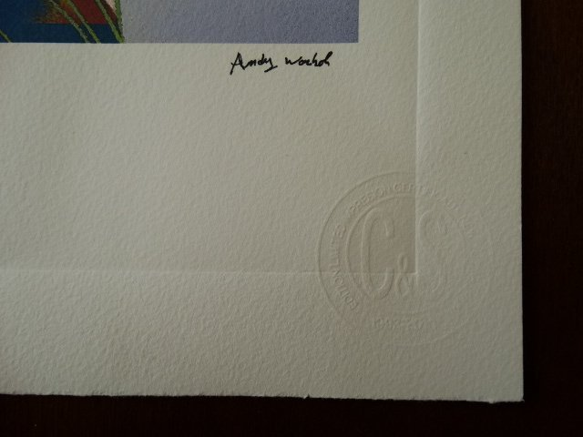 ANDY WARHOL PLATE SIGNED AND HAND NUMBERED - 4
