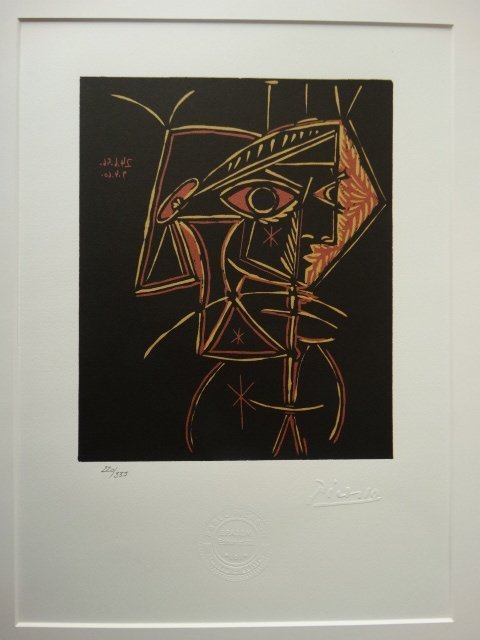 PABLO PICASSO, SPADEM, SIGNED AND HAND NUMBERED
