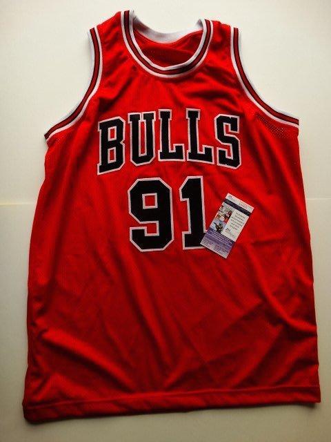 Dennis Rodman / Chicago Bulls - hand singed +COA PSA - 4