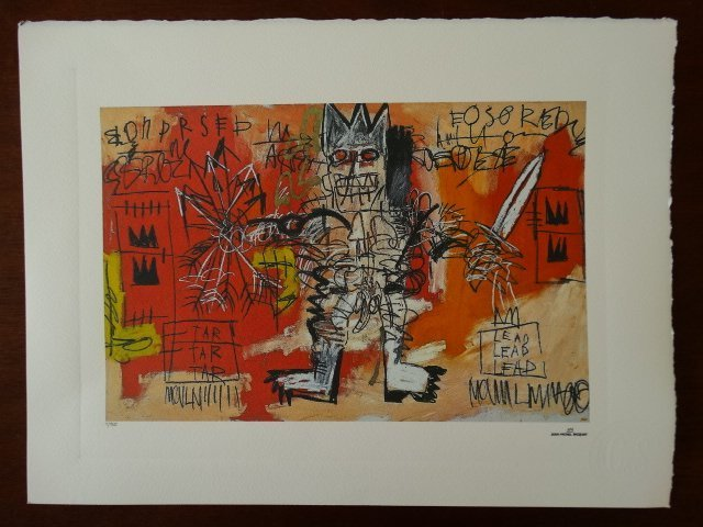 JEAN-MICHEL BASQUIAT PLATE SIGNED AND HAND NUMBERED - 2