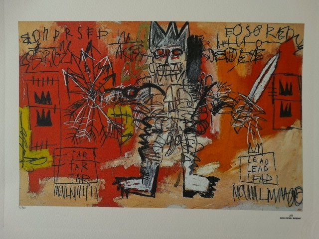 JEAN-MICHEL BASQUIAT PLATE SIGNED AND HAND NUMBERED - 4