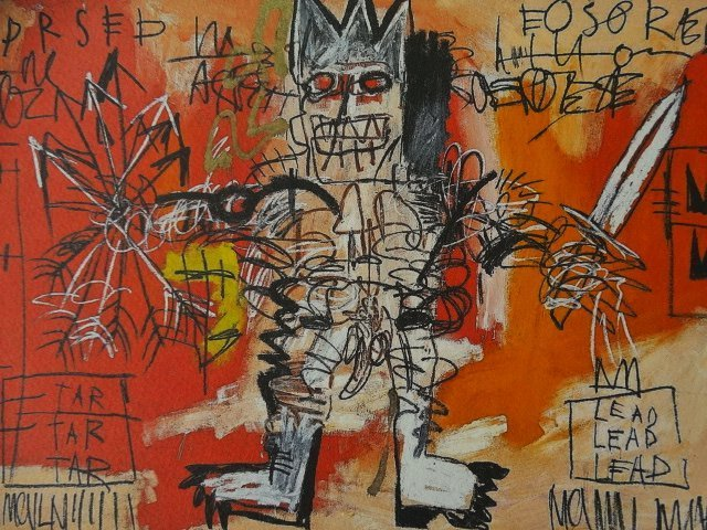 JEAN-MICHEL BASQUIAT PLATE SIGNED AND HAND NUMBERED - 5