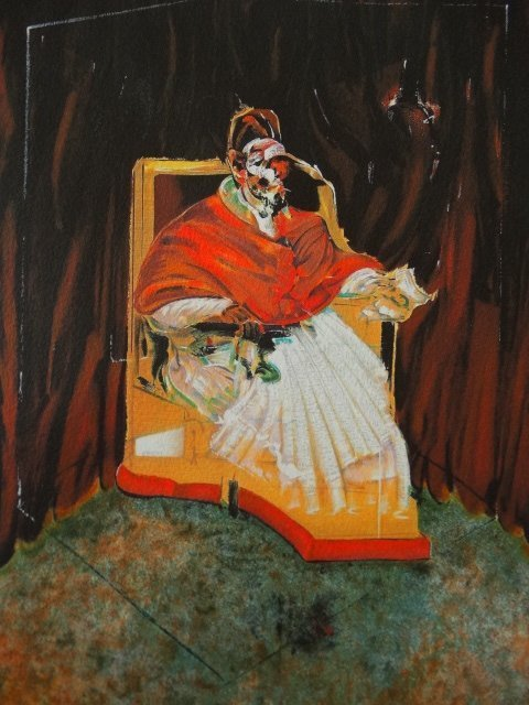 FRANCIS BACON PLATE SIGNED AND HAND NUMBERED