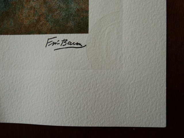 FRANCIS BACON PLATE SIGNED AND HAND NUMBERED - 2