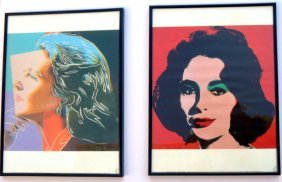 2 Andy Warhol Foundation Lithographs E, Taylor