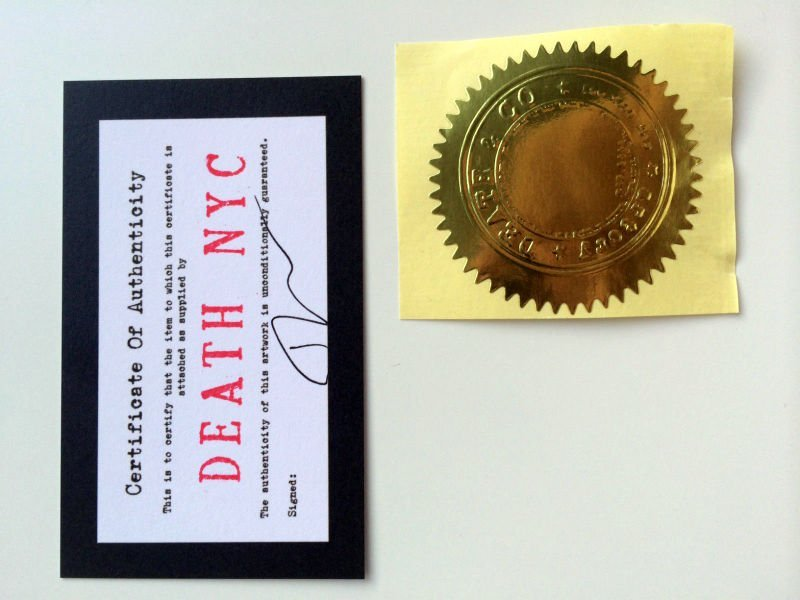 Death NYC Limited Ed Signed Graffiti Painting Pop Art - 6