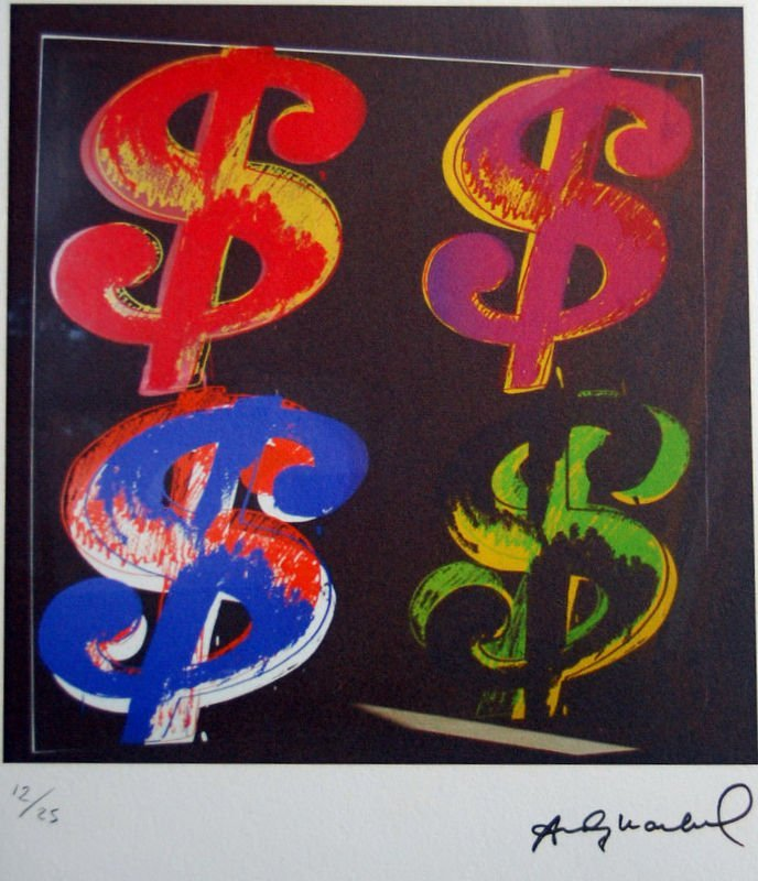 ANDY WARHOL - Lithograph - Paper BFK. 30x42 cm. Signed