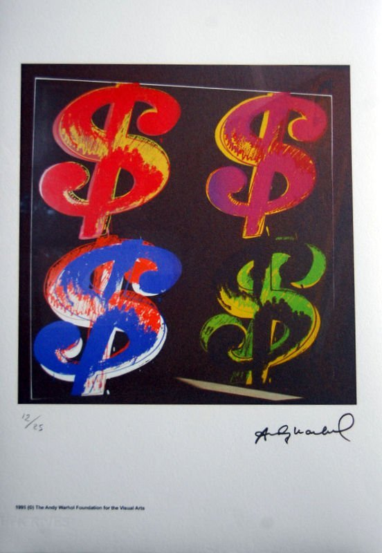 ANDY WARHOL - Lithograph - Paper BFK. 30x42 cm. Signed - 3
