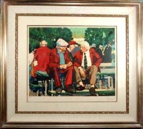 Aldo Luongo (Born 1940) Argentinian. Color lithograph,