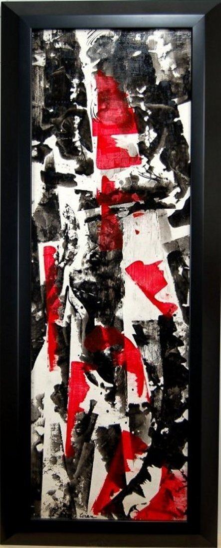 Erle Loran, (1905- 1999 American) oil on hardboard,