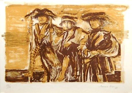 Francisco Corzas, (1936-1983, Mexican) Lithograph,
