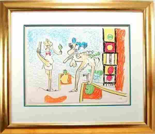Roberto Matta, (1911-2002, Cilean) Lithograph, signed