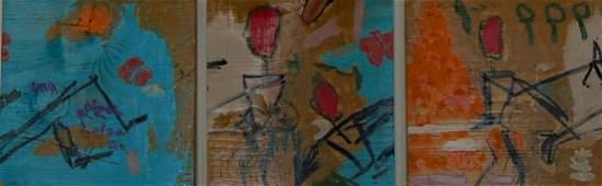 Enrique (Kico) Govantes (born 1957) Cuban. Oil wood