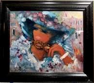 Michel Piel (Born 1930), French. Oil on canvas.