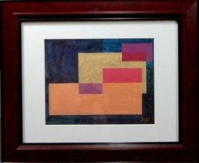David Fox (1920-2011), American. Acrylic On Paper