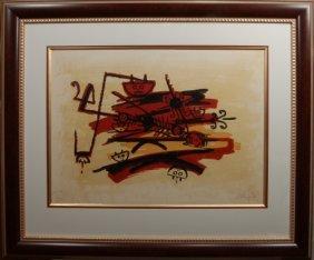 Wilfredo Lam (1902-1982), Cuban. Color Lithograph,