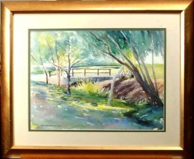 Joseph Weisman (1907-1994) American. Watercolor.