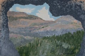 Ruth Fiegenblat (20th Century) Israeli. Oil On Canvas,