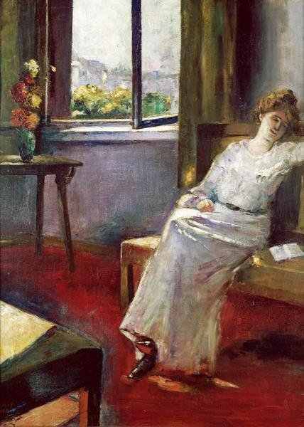 SEATED WOMAN WITH A BOOK…LESSER URY