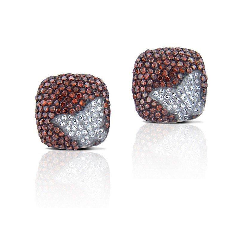 EARRINGS...GOLD 2.8 GRAM DIAMOND GOLD G 0.16CT BROWN