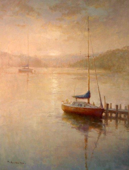 ORIGINAL OIL PAINTING-T. SEVECKS …SEASCAPES / SHIP,